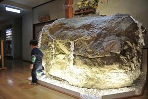 入口ロビーにある大きな岩.jpg